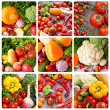 Collage. Fruits and vegetables backgrounds. Royalty Free Stock Images