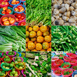 Collage of fruits and vegetables Stock Image