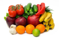 Collage Fruits Vegetables Royalty Free Stock Images