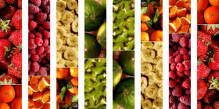 Collage of fruity textures Stock Photo