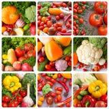 collage Frukt- och grönsakbakgrunder Royaltyfria Bilder
