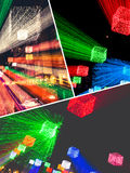Collage of fuzzy lighting images. Royalty Free Stock Photography