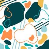 Collage géométrique abstrait illustration libre de droits