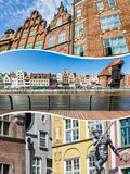 Collage of Gdansk (Poland) images - travel background (my photos Royalty Free Stock Photo