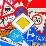 Collage of German traffic signs Royalty Free Stock Photos