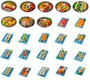 Collage giapponese dei sushi isolato Fotografia Stock Libera da Diritti
