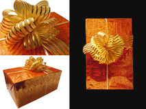 Collage, gift wrapping Royalty Free Stock Photo