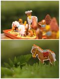 Collage with gingerbread Stock Photography