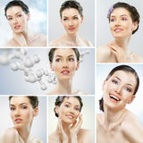Collage girls healthy Stock Photo