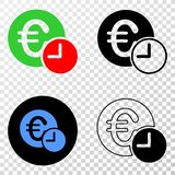 Collage of Gradiented Dotted Euro Credit Time and Grunged Stamp. Geographic collage of dotted euro credit time and grunge stamp. Mosaic vector euro credit time royalty free illustration