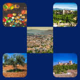 Collage of Granada,Spain my photos. Royalty Free Stock Photos