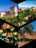 Collage of Granada,Spain my photos. Stock Photo
