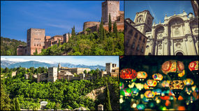Collage of Granada,Spain my photos. Royalty Free Stock Photo