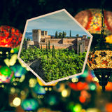 Collage of Granada,Spain my photos Royalty Free Stock Images