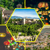 Collage of Granada,Spain my photos Royalty Free Stock Image