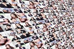 Collage grand effectué par des gens d'affaires de groupe Images libres de droits