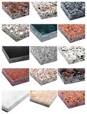 Collage Granite and Marble Stock Images