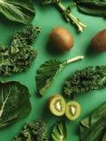 Collage grazioso di verdi Fotografie Stock