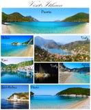 Collage Grecia de Ithaca de la visita fotografía de archivo