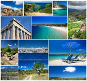Collage of Greece Stock Image