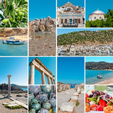 Collage of Greece travel images Stock Photography