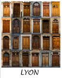 Collage of greek doors Royalty Free Stock Image