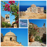 Collage of Greek landmarks Royalty Free Stock Image