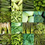 Collage of green vegetables Royalty Free Stock Photos