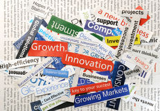 Collage growth Stock Photos