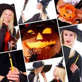 collage halloween Arkivbild