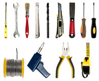 Collage of hand tools Royalty Free Stock Photography