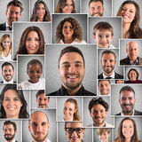 Collage happy people Royalty Free Stock Image