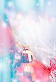 Collage hermoso de la Navidad con el espacio para el texto Foto de archivo libre de regalías