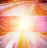 collage highway speed Στοκ φωτογραφίες με δικαίωμα ελεύθερης χρήσης