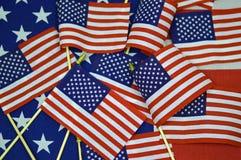 Collage/Hintergrund der amerikanischen Flagge Stockbild