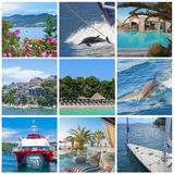 Collage of holiday images Royalty Free Stock Image