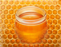 Collage with honey royalty free stock images