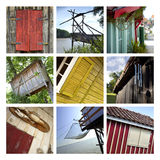 Collage of huts Royalty Free Stock Images