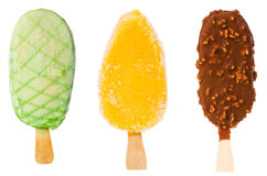 Collage of  ice creams Stock Photography