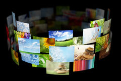 Collage of images background. Collage of colorful images background royalty free stock image