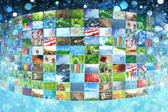 Collage of images background Stock Images