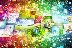 Collage of images background Royalty Free Stock Image