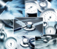 A collage of images with different medical tools Royalty Free Stock Images