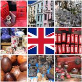 Collage of images of Portobello Road Market Royalty Free Stock Photography