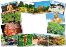 Collage from images of Sri Lanka Royalty Free Stock Images