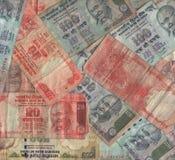 Collage indiano di valuta Fotografie Stock