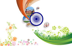Collage indio de la bandera Foto de archivo libre de regalías