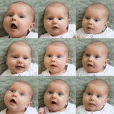 The Collage Of An Innocent Child Royalty Free Stock Photo
