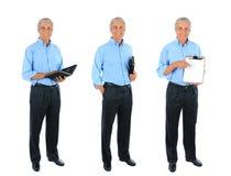 Collage intégral d'un homme d'affaires mûr images libres de droits