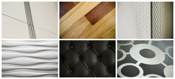 A collage of interior details. Royalty Free Stock Photo